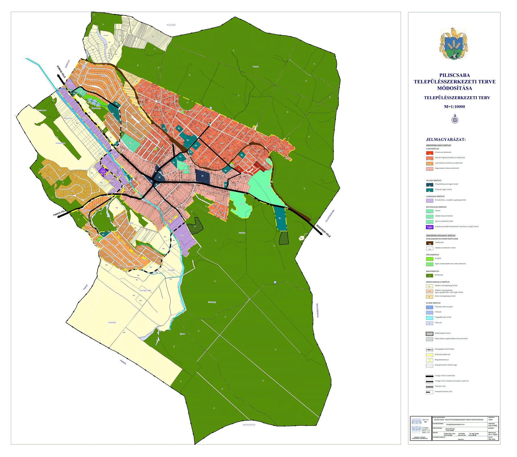 Piliscsaba Telepulesszerkezeti Terve Budapest Fovaros