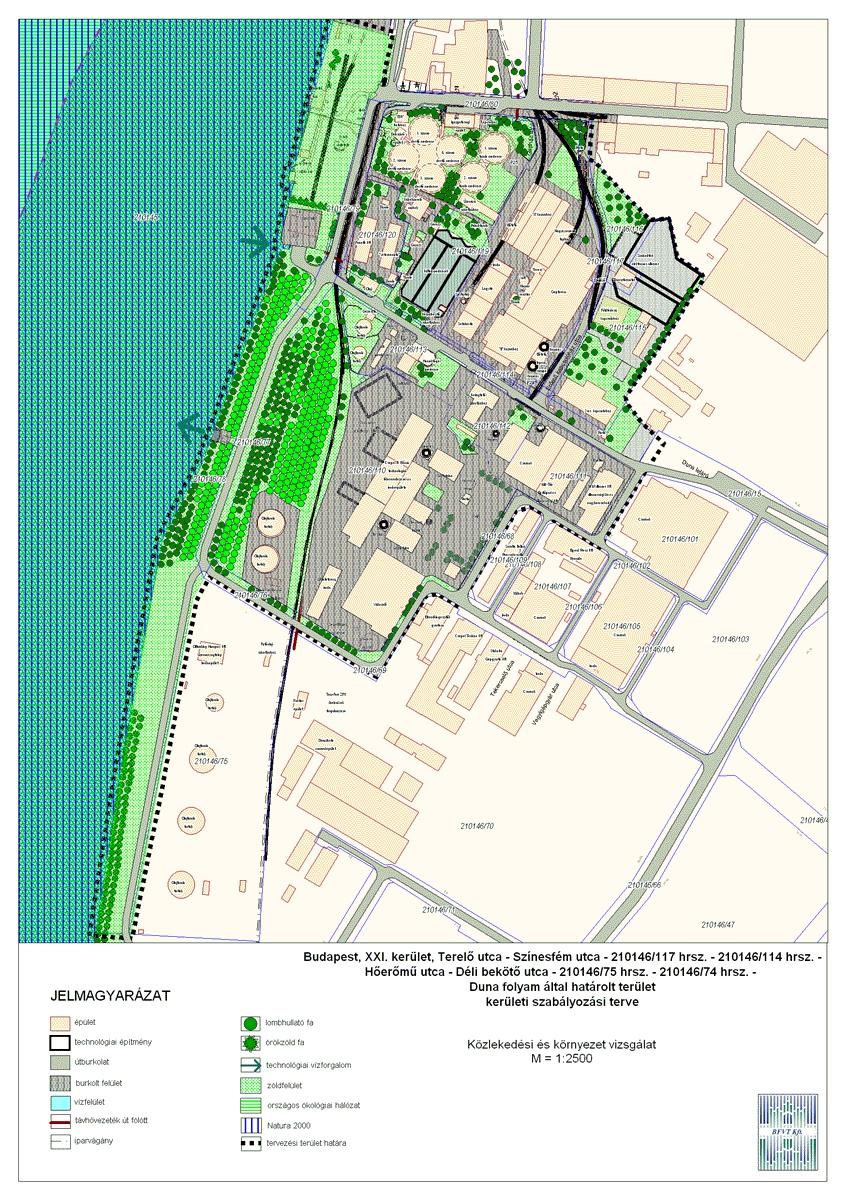 budapest 21 kerület térkép Budapest XXI. kerület, Csepeli Erőmű kerületi szabályozási terve  budapest 21 kerület térkép